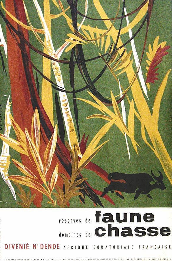 DESSIRIER Réserves de Faune - Domaines de Chasse - Divenié N'Dende - Afrique Equatoriale Française vers 1950