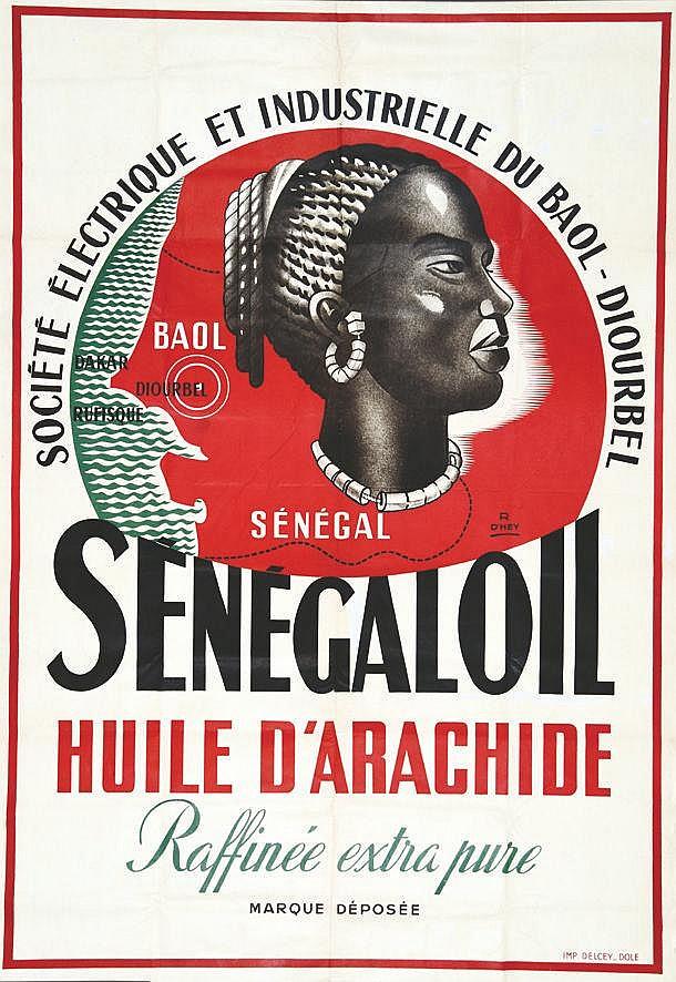 D'HEY R Huile d'Arachide Sénégaloil ( photo avant entoilage ) vers 1930