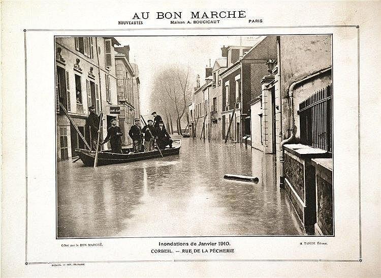 PHOTO : A. TARIDE Maison Fournaise Inondations 1910 Au Bon Marché 1910 Châtou ( Yvelines )