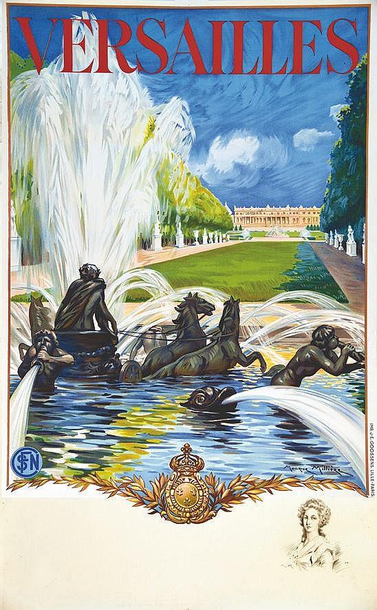 MILLIERE MAURICE Versailles Le Château avec un portrait de en remarque 1936