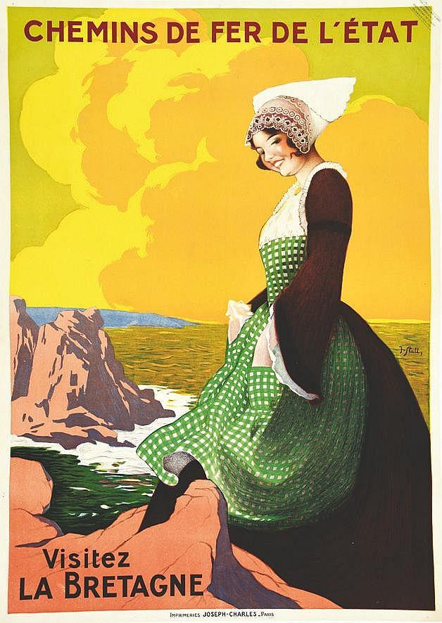 STALL  J.  Visitez la Bretagne     vers 1930