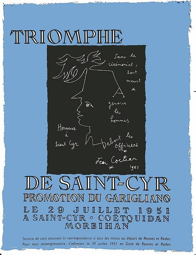 COCTEAU JEAN  Saint Cyr de Coetoquidan - Promotion du Garigliano     1951
