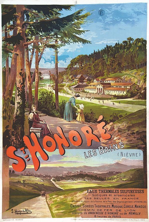 HUGO D' ALESI  F.  Saint Honoré les Bains     vers 1900