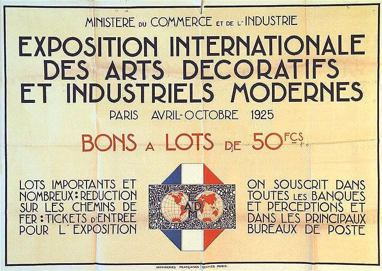 Paris 1925 - Exposition Internationale des Arts Décoratifs & Industriels Modernes     1925