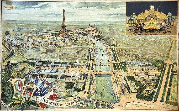 Vue de l'Exposition de 1900 Paris 1900