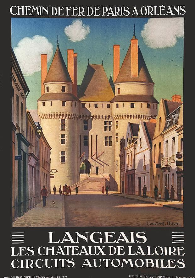 CONSTANT - DUVAL  Langeais - Les Chateaux de la Loire Circuits automobiles     1927