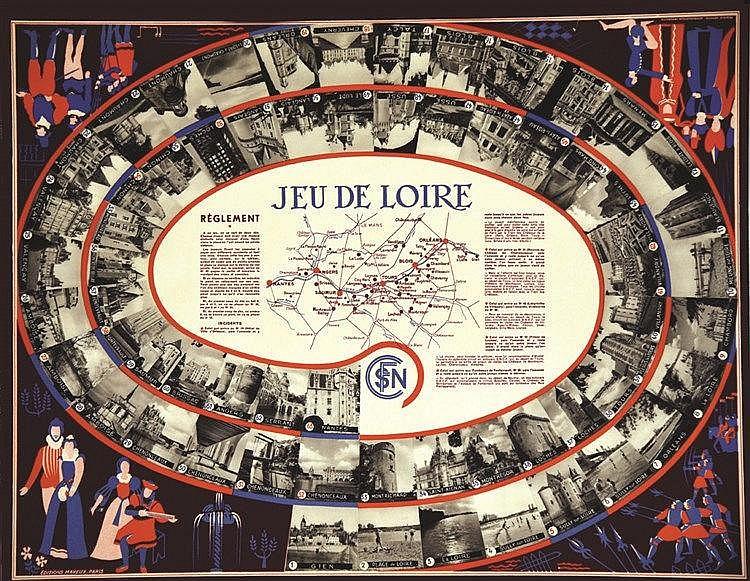 Jeu de Loire ( Jeu des Chateaux de la Loire ) vers 1930