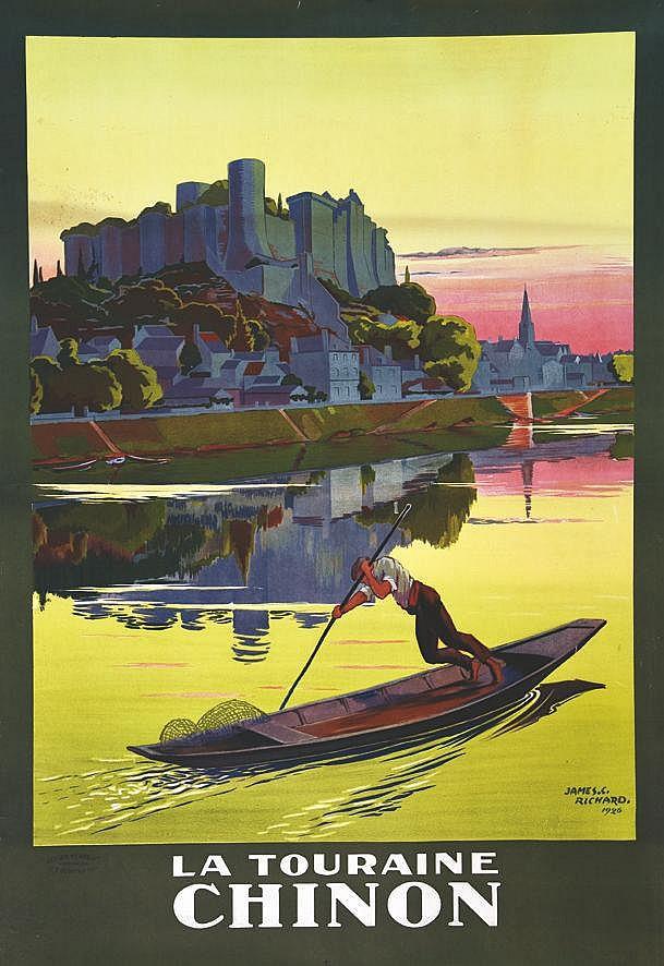 RICHARD JAMES C.  Chinon - La Touraine     1926