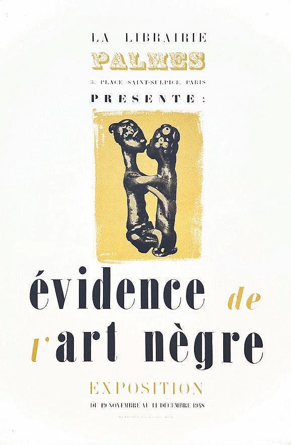 Evidence de l'Art Nègre - Librairie Palmes 1948