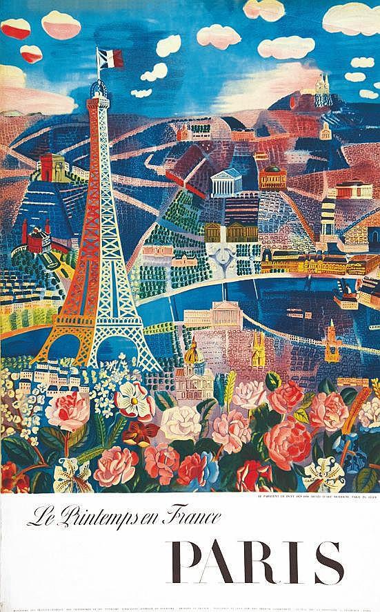 DUFY RAOUL Paris - Printemps En France - Paravent De Dufy 1958