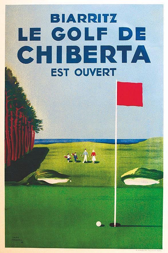 MAXWELL JACK Biarritz - Le Golf de Chiberta est ouvert 1948