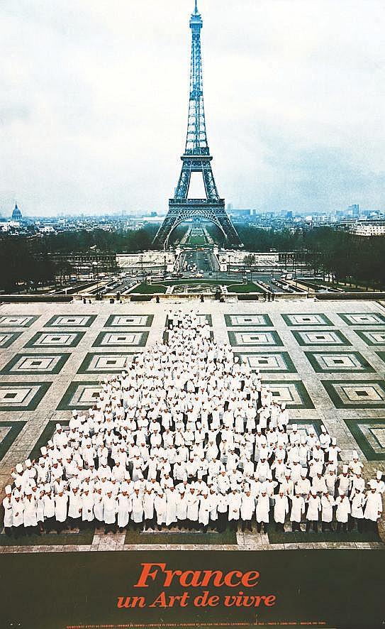 PHOTO : LEDRU SYGMA  France Art de Vivre ( Réunion de tous les Chefs étoilés en 1976 )     1976