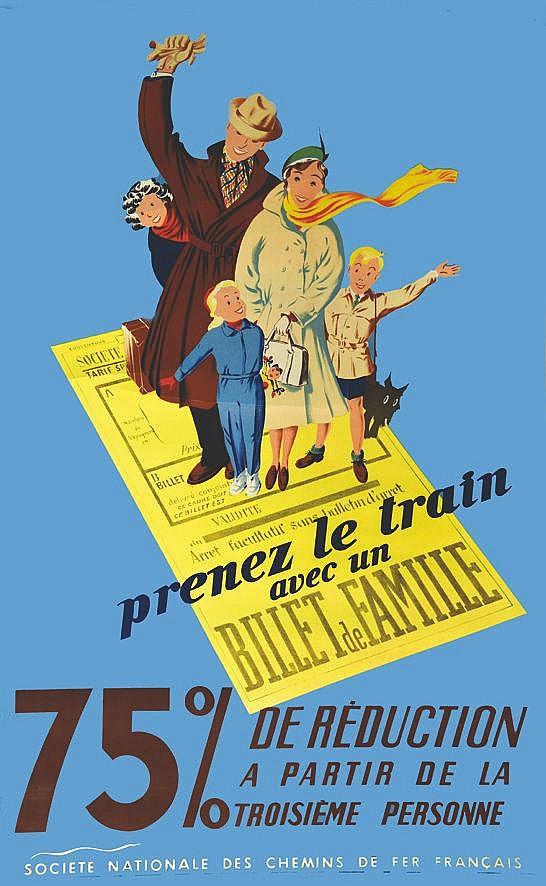 P. G.  Prenez le Train avec un Billet de Famille     1950