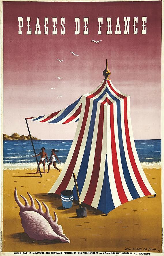 PICART LE DOUX JEAN  Plages de France     1947