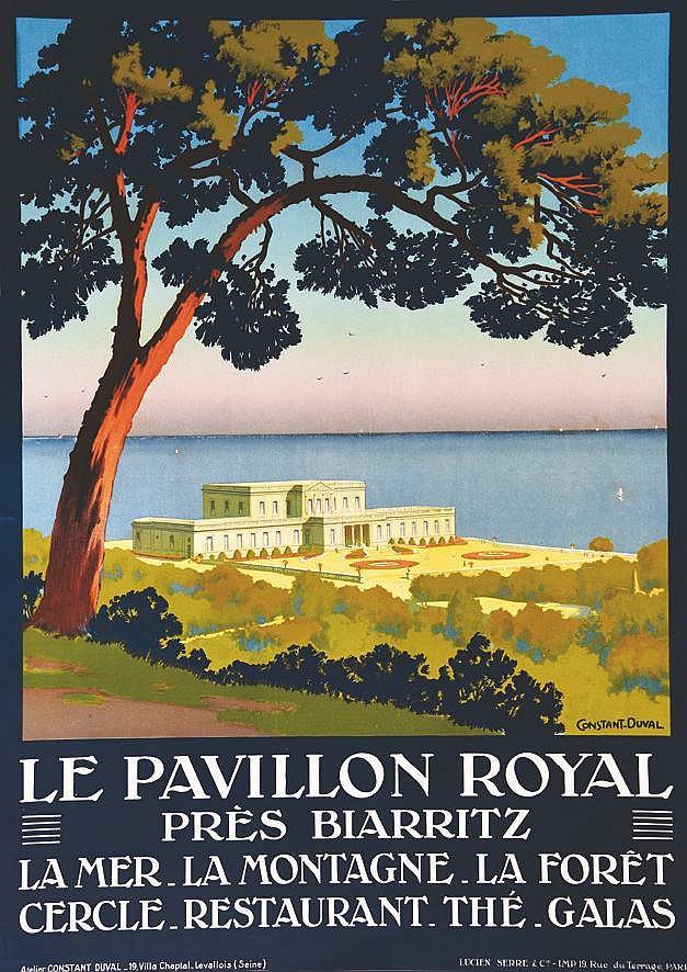 CONSTANT - DUVAL  Le Pavillon Royal près de Biarritz     vers 1920