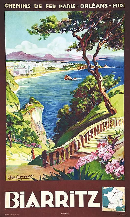 CHAMPSEIX E. PAUL Biarritz 1935
