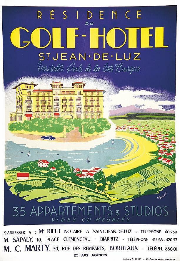 BOURGOIN.  Golf-Hôtel St Jean de Luz     vers 1950