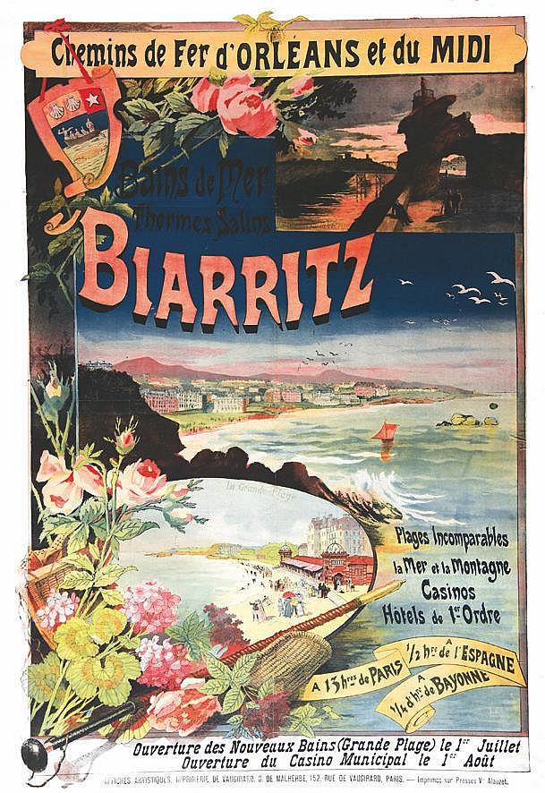 BOURGEOIS E.  Biarritz Saison d'Hiver 1897-98     1897