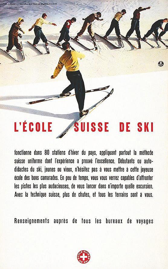 PHOTO : BISCHOF WERNER Ecole Suisse de Ski 1941
