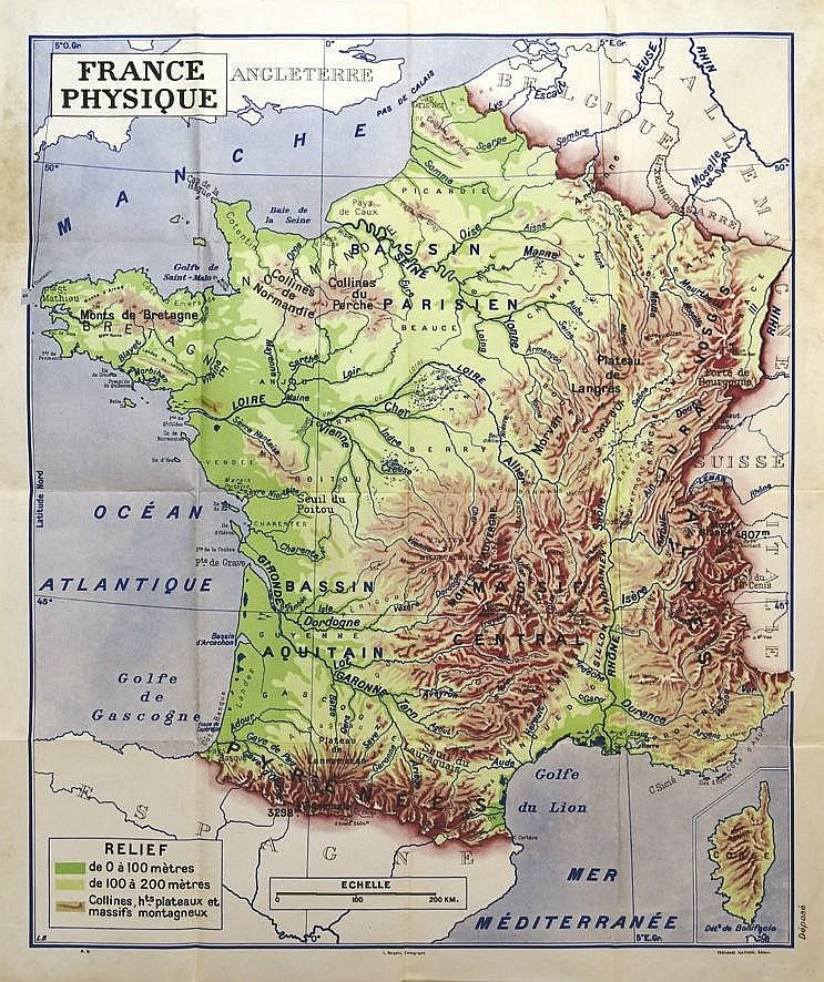 Carte de France     vers 1950
