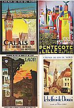 Lot of 11 Posters of The North of France     vers 1930