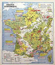Carte de France Economique     vers 1950