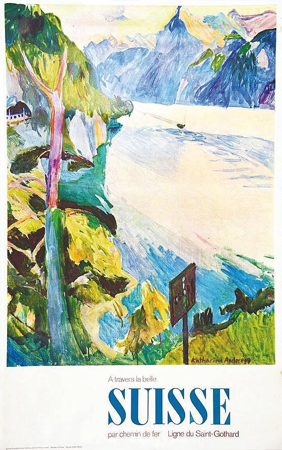 ANDEREGG KATHARINA  Ligne du Saint Gothard - A travers La Belle Suisse     vers 1950