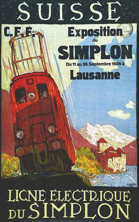 BUZZI DAN Ligne Electrique Du Simplon - Exposition Du Simplon Du 11 au Septembre 1926 1925