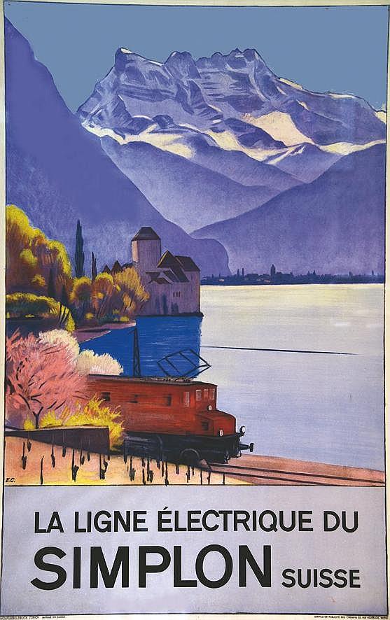 CARDINAUX E. La Ligne Electrique du Simplon vers 1930