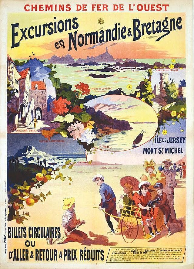 Normandie Bretagne Ile de Jersey Dinard vers 1900