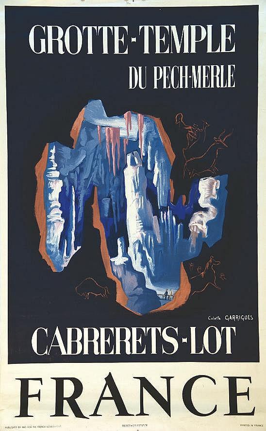 GARRIGUES COLETTE Cabrerets - Lot Grotte- Temple du Pech-Merle vers 1950