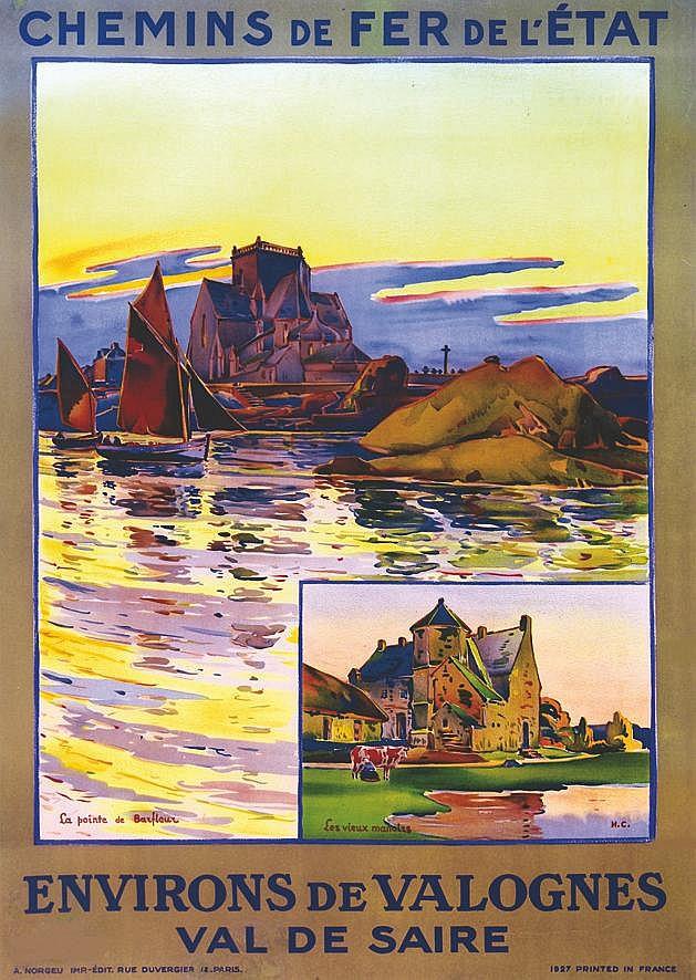 H. C.  La Pointe de Barfleur - Les Vieux Manoirs - Environs de Valogne - Val de Saire     1927
