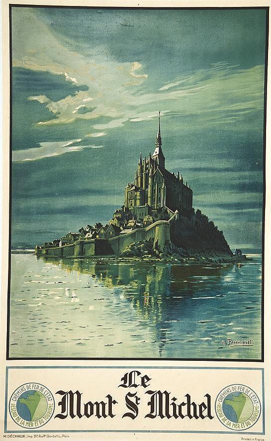 PERRONNET  M.  Le Mont Saint Michel     vers 1920