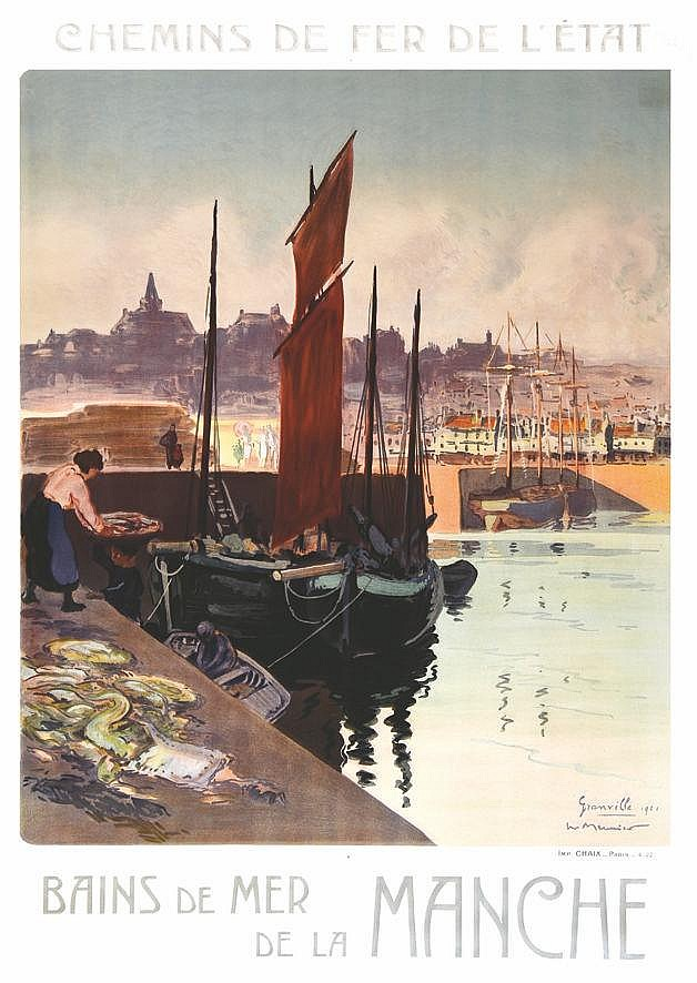 MEUNIER Grandville - Bains de Mer de la Manche 1922