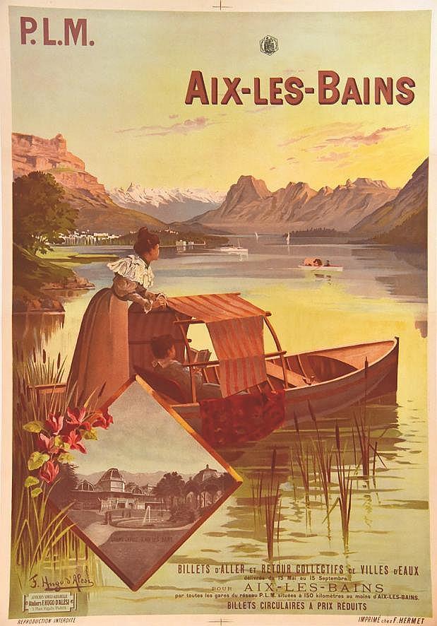 HUGO D' ALESI  F.  Aix Les Bains     vers 1900
