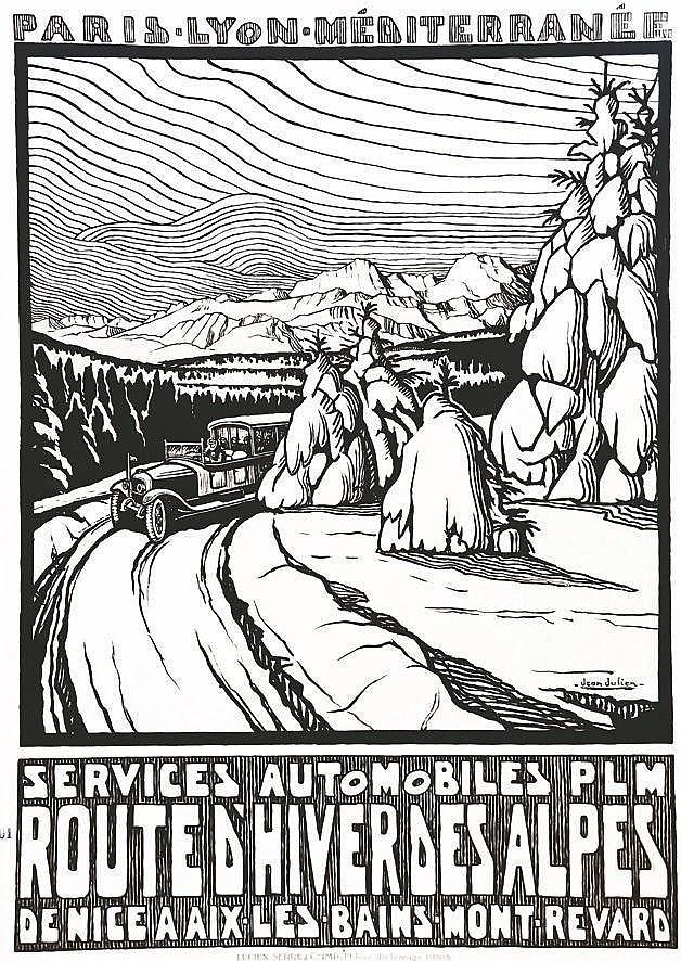 JULIEN JEAN  Route D'hiver des Alpes - Services Automobiles PLM     vers 1930