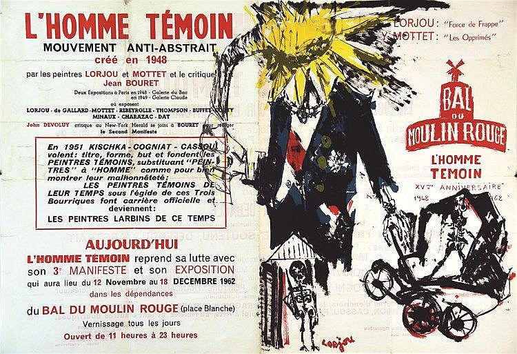 LORJOU BERNARD  Bal du Moulin Rouge - L'Homme Témoin     1962
