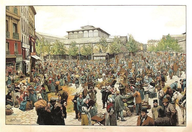MYRBACH  Le Carreau des Halles en 1885     1885