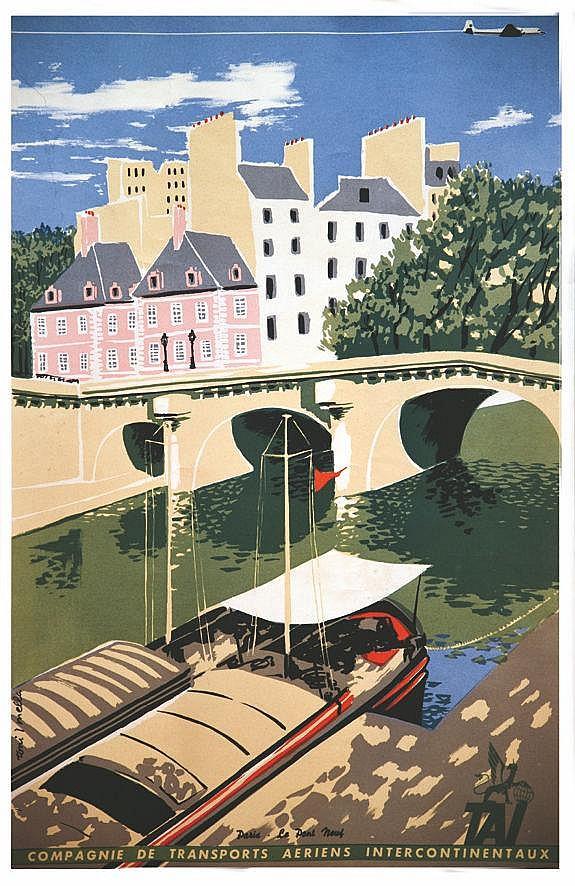 MELLA TONI Tai Paris Le Pont Neuf vers 1950