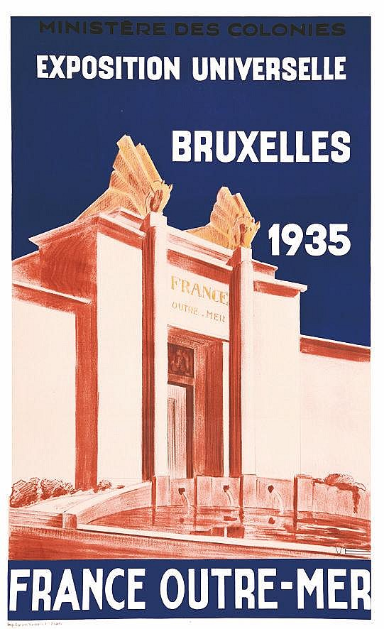VE  France Outremer- Exposition Universelle Bruxelles     1935