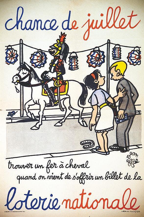 EIFFEL JEAN  Chance de Juillet trouver un fer à cheval     1965