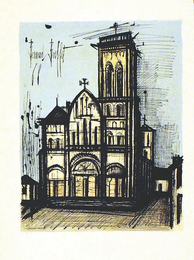 BUFFET BERNARD  Vézelay avant la lettre     1968