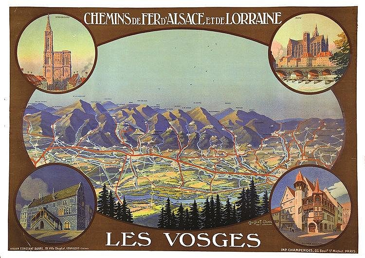 CONSTANT - DUVAL Les Vosges - Strasbourg - Metz - Colmar - Mulhouse - Vers 1920 vers 1920
