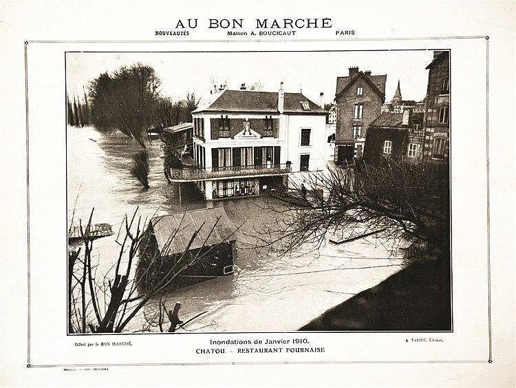 PHOTO : A. TARIDE  Corbeil Rue de la Pêcherie  Inondations 1910     1910