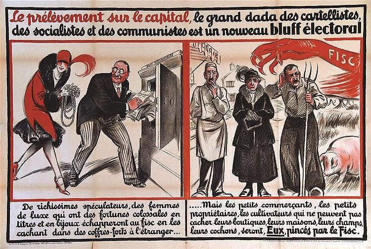 Le Prélèvement sur la Capital ..est un nouveau bluff éléctoral     vers 1930