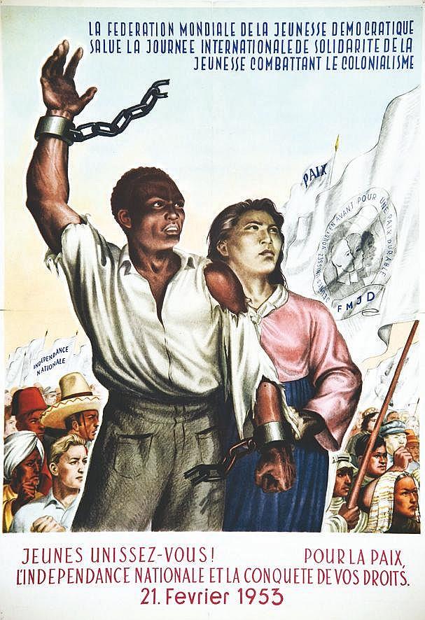 Jeunesse Combattant le Colonialisme - Jeunes Unissez Vous Pour La Paix 1953