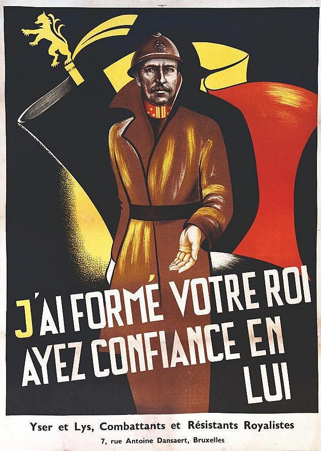 J'ai formé votre Roi ayez confiance en lui - Yser & Lys     vers 1930
