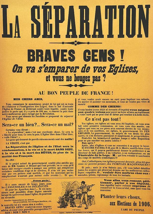 La Séparation - Braves Gens! On va Semparer de Bougez Pas ? Elections de 1906 1905