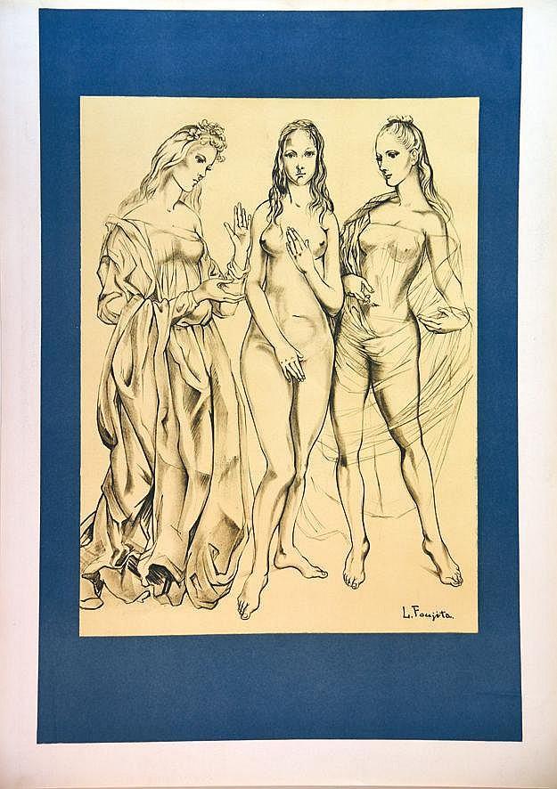 FOUJITA TSUGOUHARU  LEONARD  Les Peintres Témoins de Leur Temps Affiche avant la lettre     1960