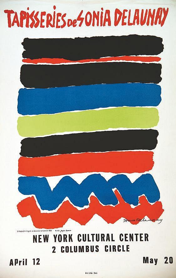 DELAUNAY SONIA Tapisseries de Sonia Delaunay New York Cultural Center vers 1970